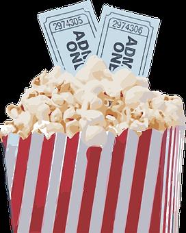 Popcorn, Movie, Pop, Corn, Snack, Film, Tickets