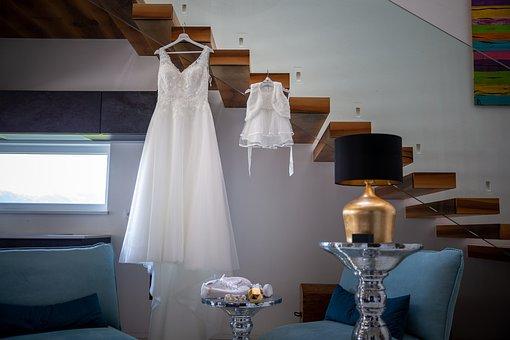 Wedding, Dress, Before, Bridal Suite, Happy, Married