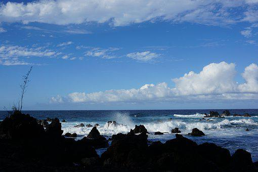 Beach, Waves, Hawaii, Big Island, Meditation, Seashore