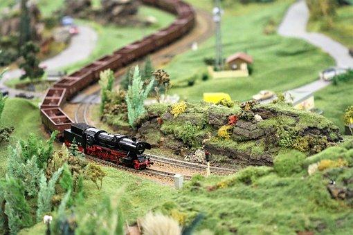Toys, Miniature, Railway, Details, Model Railway