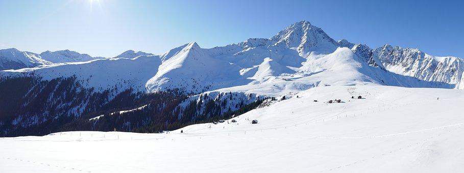 Panorama, Snow, Mountain, Cold, Winter, Sky, Alps