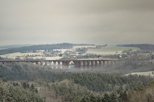Nature, Winter, Snow, Wintry, Viaduct
