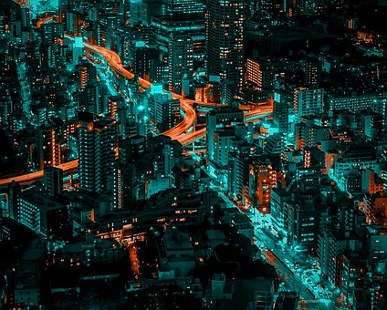City, Night City, Beautiful City, City For Background