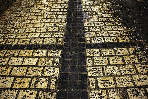 Street, Old Akko, Rain, Weather, Raining, Texture, Dew