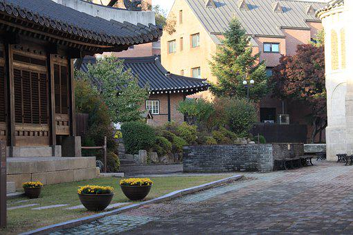 Hanok, Roof Tile, Traditional, Republic Of Korea