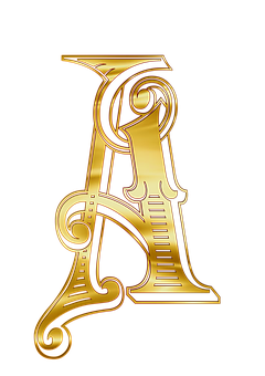 A, Letters, Alphabet, Russian, Johndoe, The Word, Gold