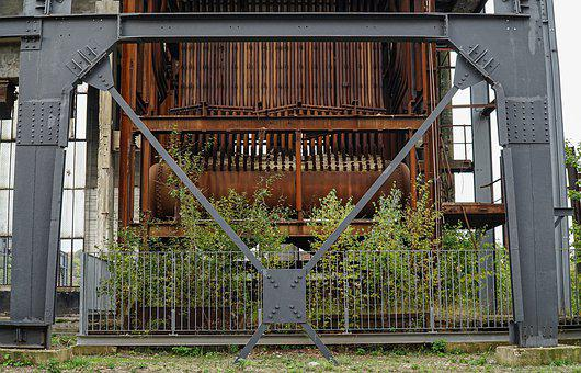 Steel Structure, Old, Rust, Architecture, Building