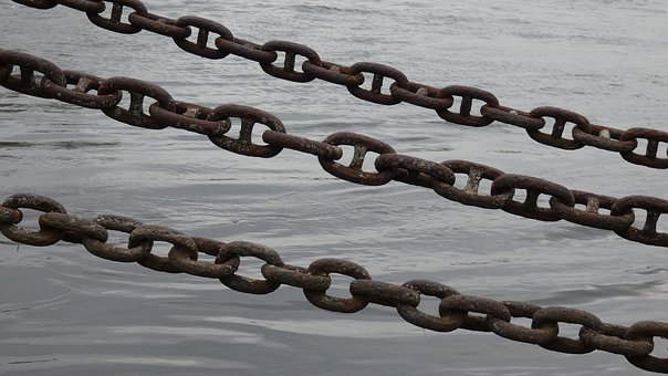 Chains, Water, Chain, Anchor, Sea, Rust, Ship, Old