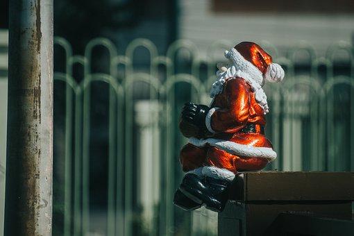 Santa, Sitting, Christmas, Sit, Xmas, Figure, Model