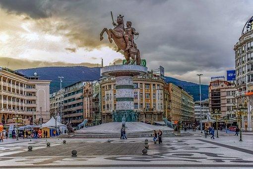 Skopje, North Macedonia, City, Cityscape, Building