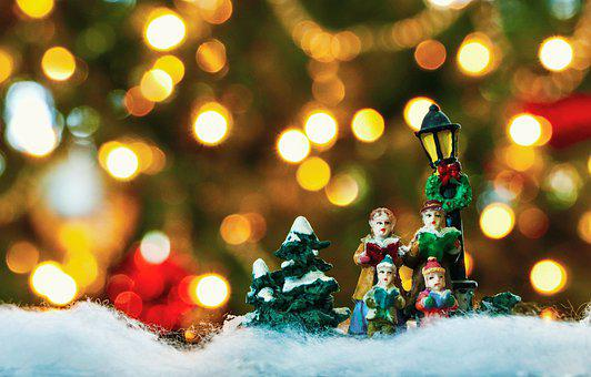 Christmas, Lights, Light, December, Celebration, Snow