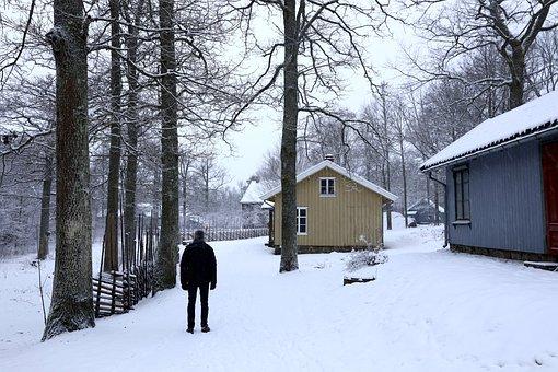 Landscape, Winter, Old Building, Listed, Walking, Snow