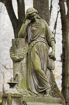 Sculpture, Stone, Statue, The Grave, Cemetery, Artistic