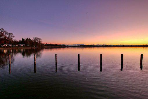Ammersee, Lake, Water, Bavaria, Landscape, Nature