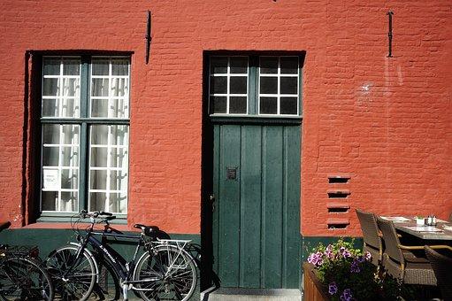 House, Bike, Window, House Exterior