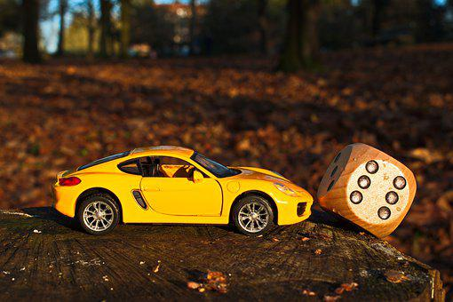 Lucky Day, Forest, Wood, Car, Six, Yellow, Luck, Nature