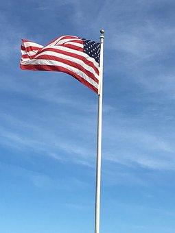 Flag, America, Usa, American, July, Patriotic, Stripes