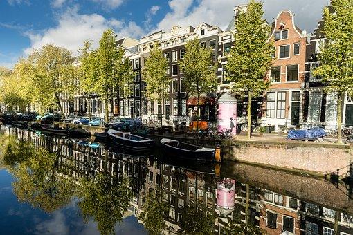 Canals, Amsterdam, Netherlands, Water, Europe, Dutch