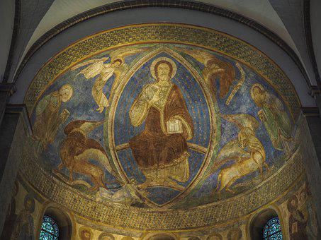 Church, Painting, Religion, Architecture, Art