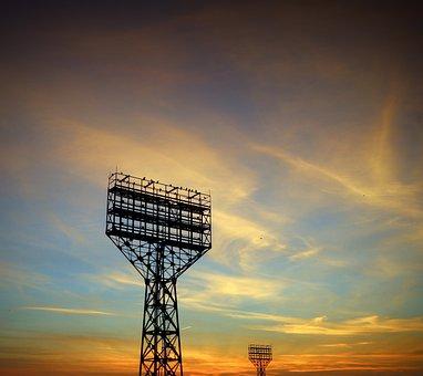 Russia, Saratov, Stadium Falcon, Stadium, Autumn, Dawn