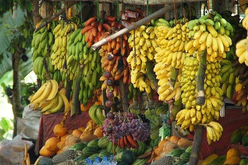 Tropical Fruits, Bananas, Healthy, Sweet, Dessert
