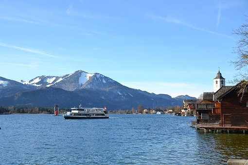 Lake, Winter, Nature, Water, Blue, Mountains, Vacations