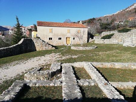 Building, Baska, Krk, Old, History, Arheology, Croatia