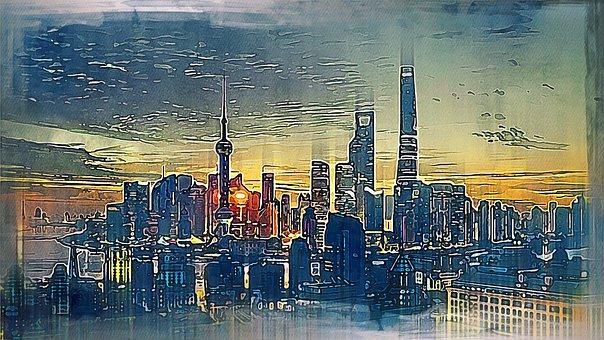 City, Metro Pole, Buildings, Architecture, Skyscrapers