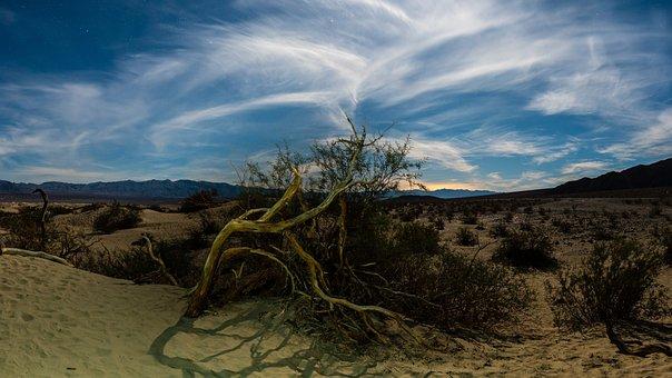 Death Valley, California, Desert, Mountains, Clouds