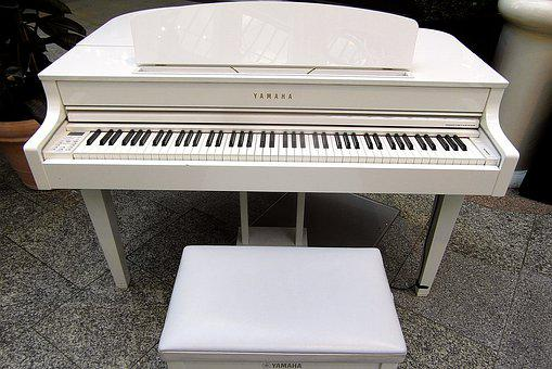 Piano, Keyboard Instrument, Keyboard, Chair For Piano