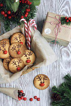 Cookies, Christmas, Candy, Baking, Holiday, Gift