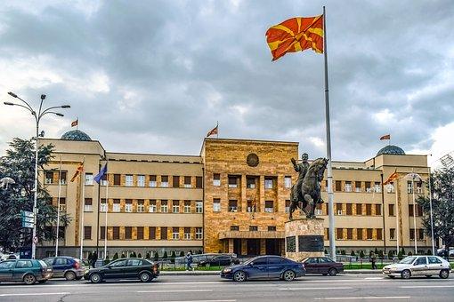 Skopje, North Macedonia, Parliament, City, Cityscape
