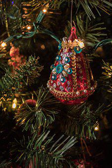 Christmas, Ornament, Decoration, Gold, Holiday, Gift