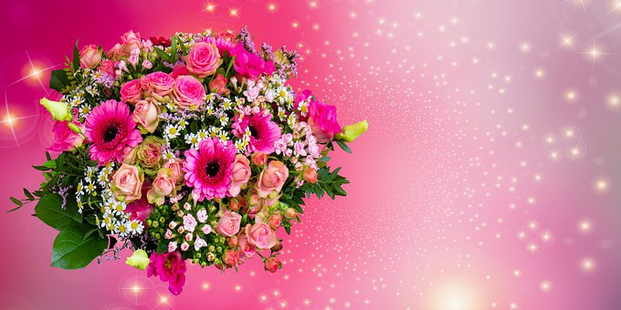 Background, Emotions, Flowers, Bouquet, Greeting Card