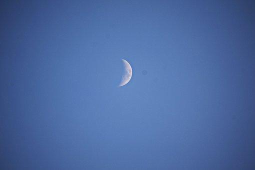 Evening Moon, Sky, Night, Mood, Fantasy, Mystical