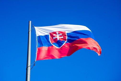 Slovakia, Bratislava, Flag, Slovensko, Press Castle
