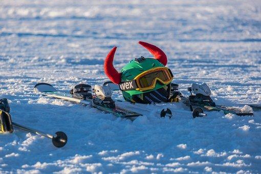 Winter, Ski Helmet, Goggles, Helm, Security, Skiers