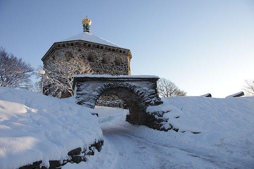 Sconce, Skansen Kronan, Gothenburg, Fortress, Snow