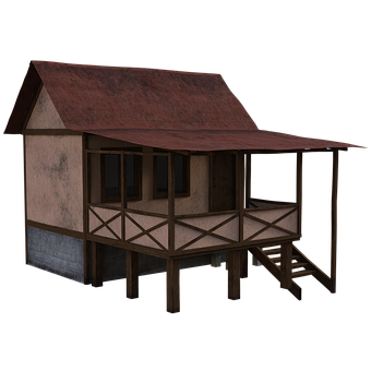 House, Shack, Porch, Stairs, Steps, Windows, Doors
