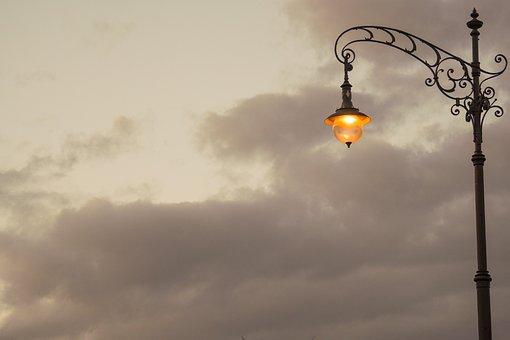 Düsseldorf, Germany, Lantern, Lights