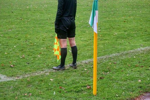 Referee, Linesman, Sport, Football, Wizard, Flag, Play