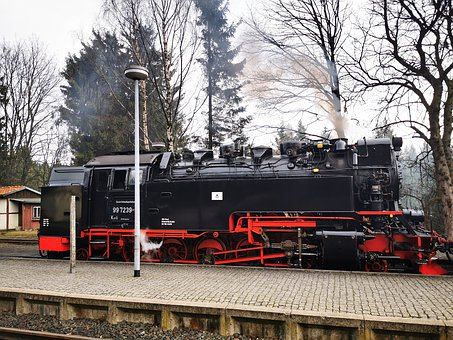 Steam Locomotive, Resin, Brocken Railway, Locomotive