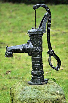 Pump, Water Pump, Metal, Steel, Old, Hand Pump