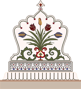 Mughal, Pietra Dura, Red Fort, Vase, Taj Mahal
