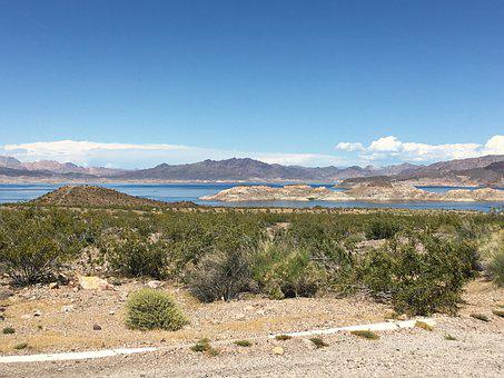 Lake Mead, Nevada, Desert, Landscape, Water, Arid