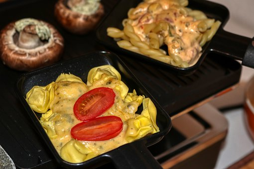 Raclette, New Year's Eve, Tortelini, Noodles, Mushrooms