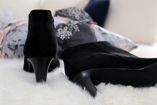 Shoe, Shoes, Black, White, Stiletto, Bra, Laundry, Sexy