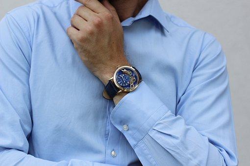 Shirt, Watch, Wrist, Male, Businessman