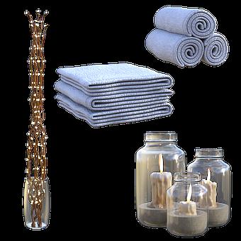 Relax, Spa, 3D, Render, Massage