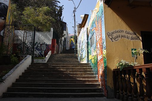 Ravine, Lime, City Of Lima, Peru, Stairs, Sun, Summer